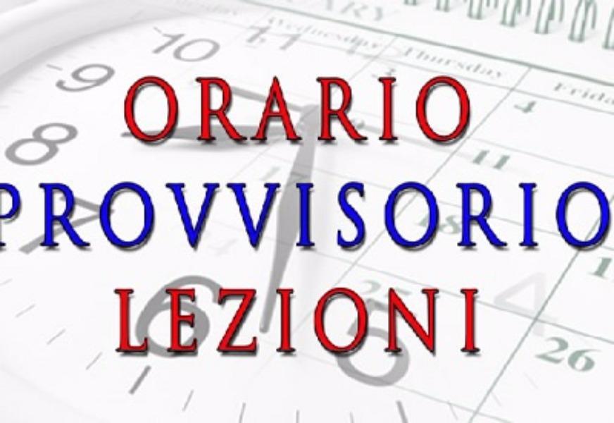 Orario Provvisorio in Vigore dal 14/10/019