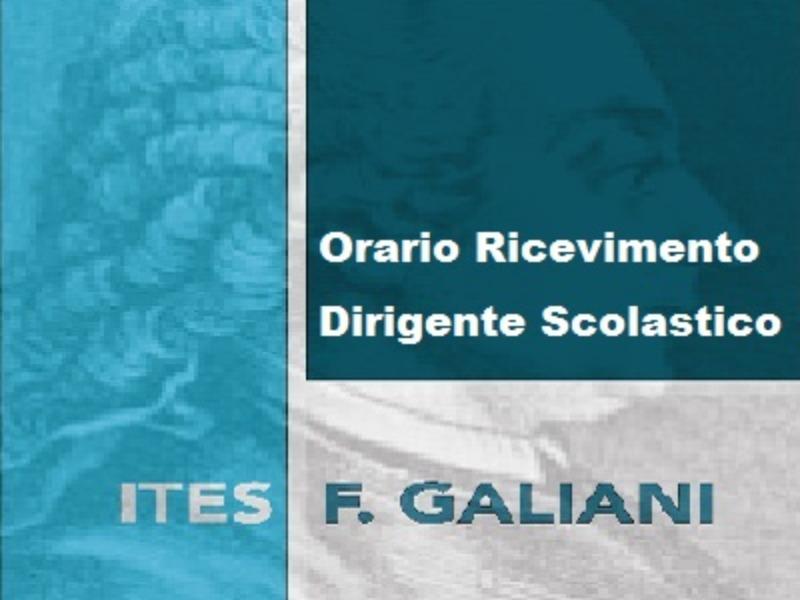 Orario Ricevimento Dirigente Scolastico a.s.2019/2020