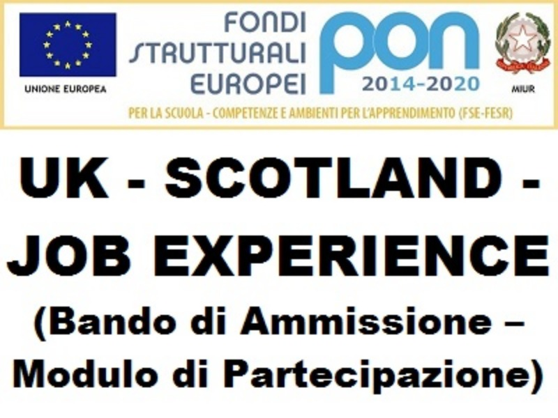 "Progetto ""UK - SCOTLAND - JOB EXPERIENCE"" (..."
