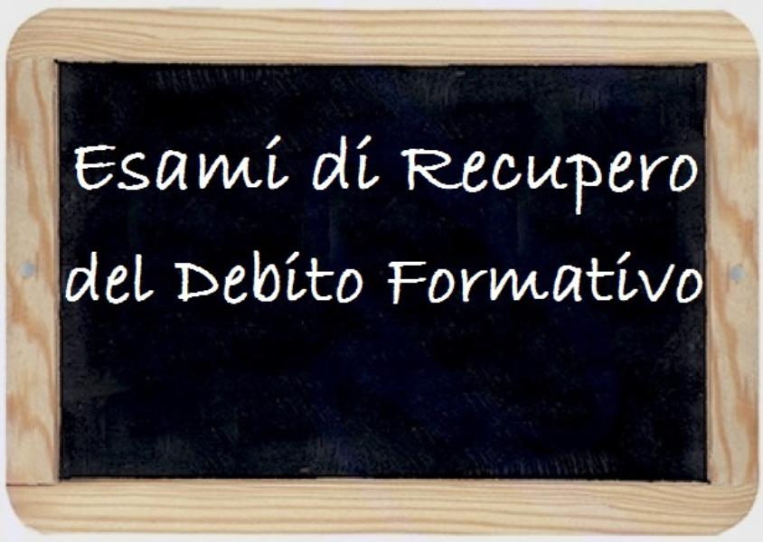 DEBITO FORMATIVO (Convocazioni e Calendari)
